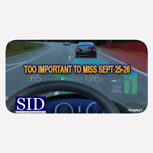 SJ Tang to speak at SID Vehicle Displays Detroit, the 25th Annual Symposium & Expo